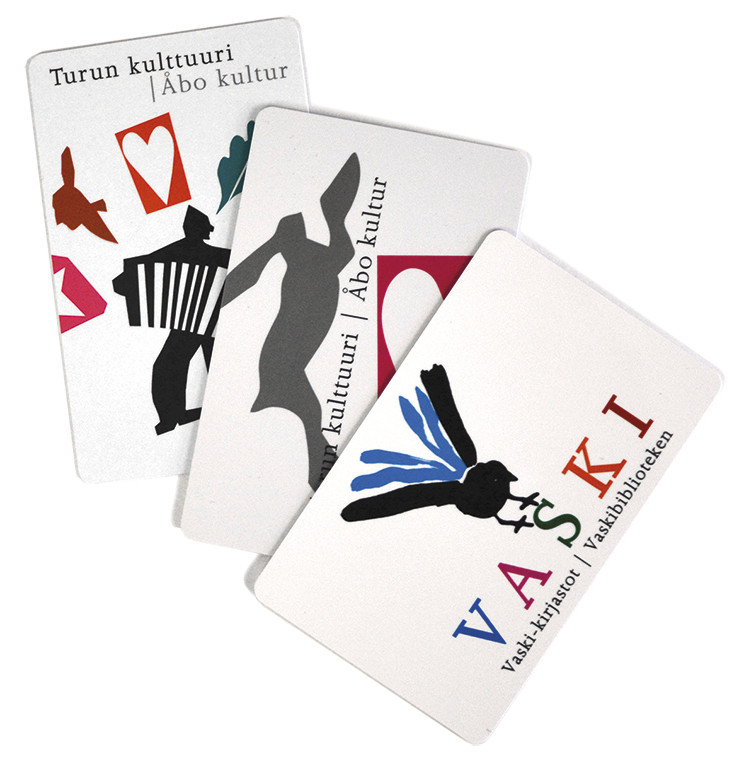 The Culture Card feature can be added to the two latest cards of Turku City Library and to the card of Vaski libraries.